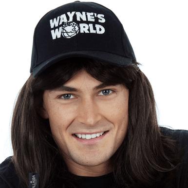 Waynes World Wayne Mens Costume Wig - by Allaura