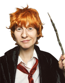 Ron Weasley Orange Scruffy Costume Wig - by Allaura