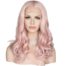 RAVEN - Lace Front Long Baby Pink Wig - by Queenie Wigs