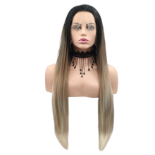 KIMBERLEY - Lace Front Long Straight Ombre 3 Tone Wig - by Queenie Wigs