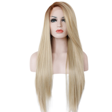 Brooke - Lace Front Heat Resistant Long Blonde Ombre Straight Wig - Queenie Wigs