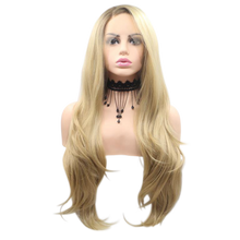 BECKY - Lace Front Side Part Ombre Golden Blonde Long Wavy Wig - by Queenie Wigs