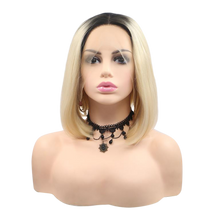 TEQUILA - Lace Front Ombre Blonde Bob Wig - by Queenie Wigs