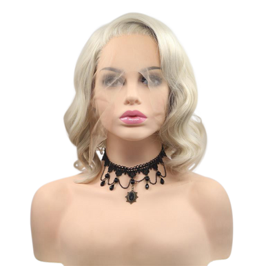 LILITH - Lace Front Blonde Wavy Bob Wig - by Queenie Wigs