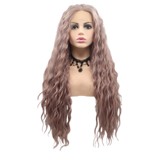 BLAIR - Lace Front Lavendar Purple Long Spiral Curls Wig - by Queenie Wigs