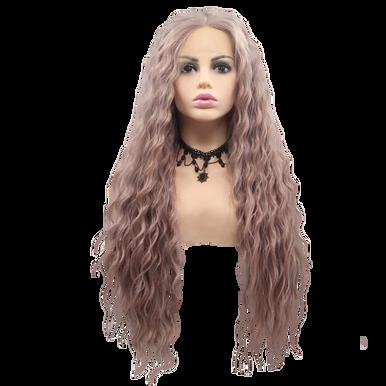 BLAIR - Lace Front Lavendar Purple Long Spiral Curls Wig - by Queenie Wigs