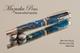 Handmade Writing Instrument Blue Swirl Chrome and Gold Finish