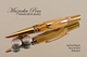 Handcrafted pen made from Spalted Maple with Rose Gold / Gold finish.