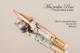 Blue Ice Resin Gold and Rose Gold Ballpoint