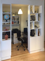 CUSTOM -Built In Home Office Wall Unit