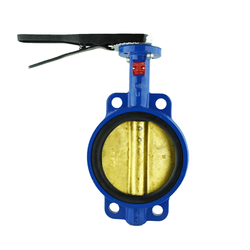 Wafer Style Ductile Iron Butterfly Valve with Bronze Disc