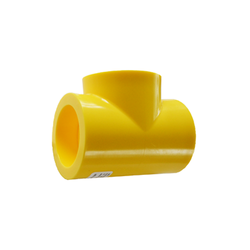 Yellow MDPE Socket Fusion Tee PE2708