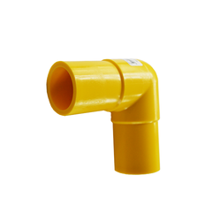 Yellow Gas Butt Fusion 90 Degree Elbow MDPE PE2708