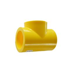 Yellow MDPE Socket Fusion Tee PE2708