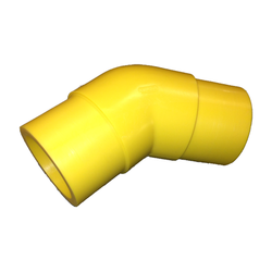 Yellow Gas Butt Fusion 45 Degree Elbow