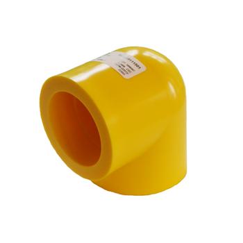 Yellow MDPE Socket Fusion 90 Degree Elbow PE2708