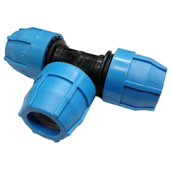 Polypropylene Compression Tee for IPS HDPE Pipe