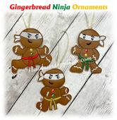 In The Hoop Gingerbread Ninja Ormanets Embroidery Machine Design Sett