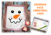 In The Hoopo Snowman Face Christmas Card Embroidery Machine Design