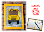 In The Hoop School Bus Card Embroidery Machine Design
