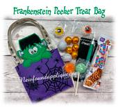 In The Hoop Frankenstein Peeker Treat Bag Embroidery Machine design