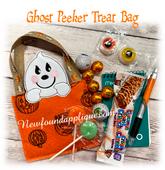 In The Hoop Ghost Peeker Treat Bag Embroidery Machine Design