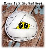 In The Hoop Stuffed Mummy Head Embroidery Machine Design