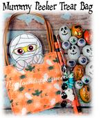 In The Hoop Mummy Peeker Treat Bag Embroidery Machine design