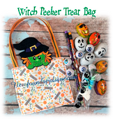 In The Hoop Witch Peeker Treat Bag Embroidery Machine design