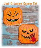 In The Hoop Jack O Lantern Coaster Embroidery Machine Design Set