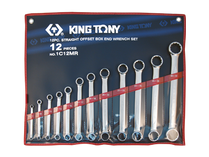 SPANNER SET DOUBLE RING 12pc  king Tony metric