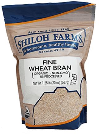 Fine Wheat Bran Organic Non Gmo Shiloh Farms