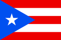 Puerto Rico Courtesy Flag