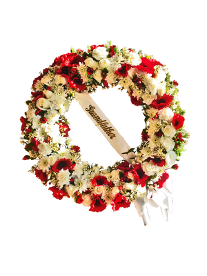"Large 24"" Funeral Wreath"