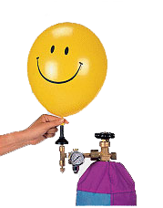 "Helium for Latex Balloon 13"" to 17"""