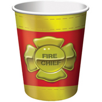 8 Firefighter Beverage Cups 9oz