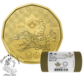 Canada: 2016 $1 Lucky Loonie Special Wrap Coin Roll (25 Coins)
