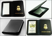 Customs and Border Protection Family Member Mini Badge ID Card Cases with Family Embossing