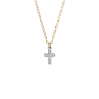 Lois Diamond Cross Necklace