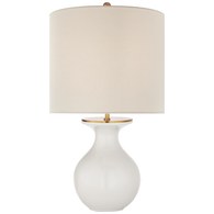 White with cream linen shade