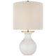 White with cream linen shade