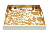 Gold and White Tray