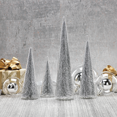 Silver Glass Trees