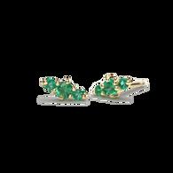 Hanley Emerald Stud Earrings