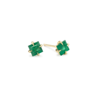 Emerald Princess Stud Earrings