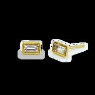Leone White Sapphire Earrings Stud