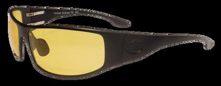 OutLaw Eyewear Fugitive TAC Black frame with yellow shooting lenses