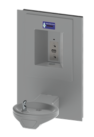 Oval Bowl Barrier-Free Wall Mount Drinking Fountain with Sensor Activated Bottle Filler