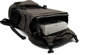 backpack with joystick inside