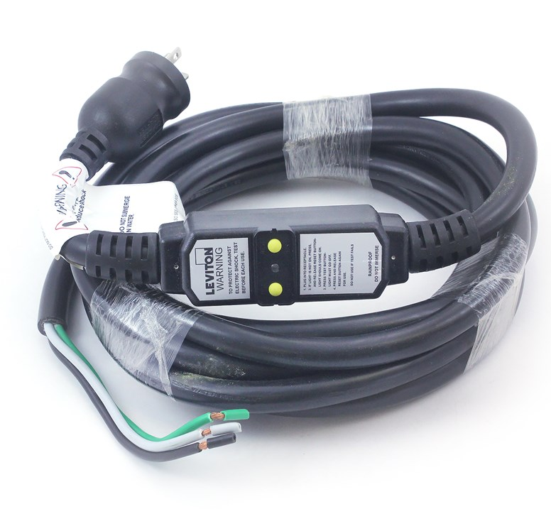 Leviton Spa Hot Tub 120 Volt GFCI Power Cord and Plug 20 Amp Plug with on